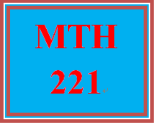 MTH 221 Week 5 Final Exam | eBooks | Education