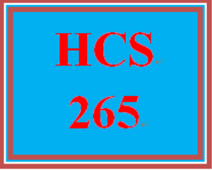 HCS 265 Week 3 Role Summary | eBooks | Education