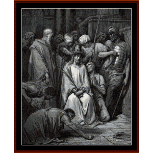 The Crown of Thorns - Gustave Dore cross stitch pattern by Cross Stitch Collectibles | Crafting | Cross-Stitch | Wall Hangings