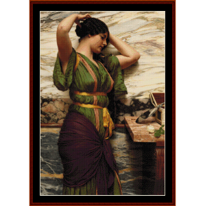 a fair reflection - godward cross stitch pattern by cross stitch collectibles