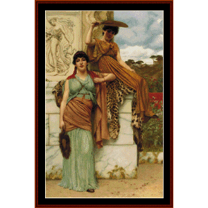 Waiting for the Procession - Godward cross stitch pattern by Cross Stitch Collectibles | Crafting | Cross-Stitch | Wall Hangings