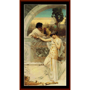 yes or no? - godward cross stitch pattern by cross stitch collectibles
