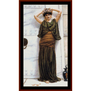 Ianthe - Godward cross stitch pattern by Cross Stitch Collectibles | Crafting | Cross-Stitch | Wall Hangings