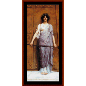 At the Gate of the Temple - Godward cross stitch pattern by Cross Stitch Collectibles | Crafting | Cross-Stitch | Wall Hangings