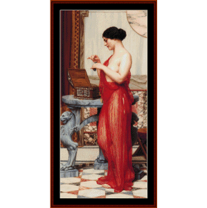 the new perfume - godward cross stitch pattern by cross stitch collectibles