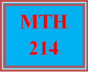 MTH 214 Week 3 Quiz   eBooks   Education