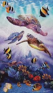 Morsky svet (Sea world) | Crafting | Cross-Stitch | Other