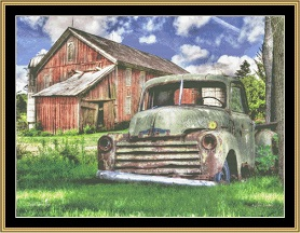 Farm Truck | Crafting | Cross-Stitch | Wall Hangings