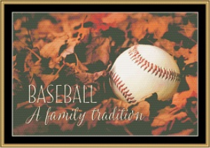 An American Tradition....Baseball | Crafting | Cross-Stitch | Wall Hangings