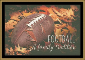 An American Tradition....Football | Crafting | Cross-Stitch | Wall Hangings