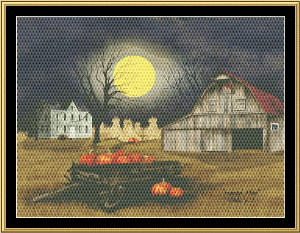 harvest moon cross stitch pattern by mystic stitch