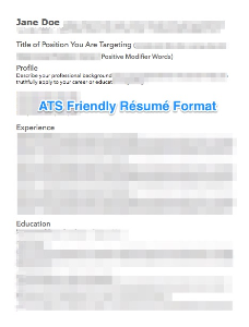 modern ats friendly résumé template