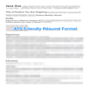 Modern ATS Friendly Résumé Template | Documents and Forms | Resumes