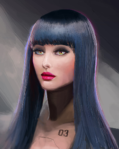 Female robot digital painting | Photos and Images | Digital Art