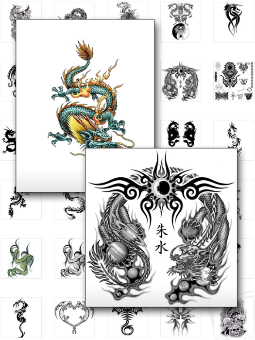First Additional product image for - Dragon Tattoos