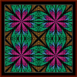 Fractal 584 cross stitch pattern by Cross Stitch Collectibles | Crafting | Cross-Stitch | Wall Hangings