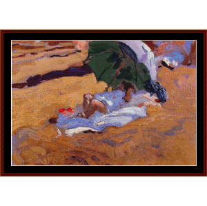 Child's Siesta - Sorolla cross stitch pattern by Cross Stitch Collectibles | Crafting | Cross-Stitch | Wall Hangings
