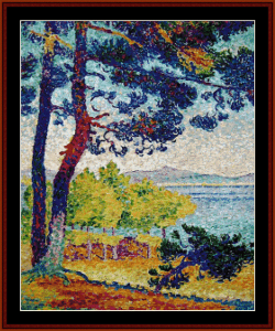 Afternoon in Pardigon - Signac cross stitch pattern by Cross Stitch Collectibles | Crafting | Cross-Stitch | Wall Hangings