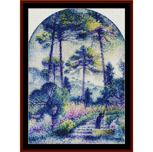 Garden in Provence - Signac cross stitch pattern by Cross Stitch Collectibles | Crafting | Cross-Stitch | Wall Hangings