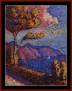 Canal Near St. Tropez - Signac cross stitch pattern by Cross Stitch Collectibles | Crafting | Cross-Stitch | Wall Hangings