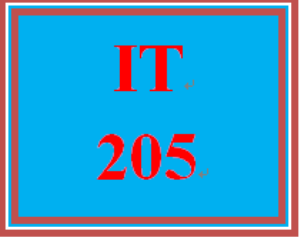 IT 205 Entire Course | eBooks | Education