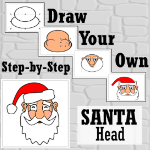 First Additional product image for - How To Draw SANTA'S HEAD