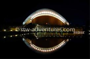 congress center berlin by night