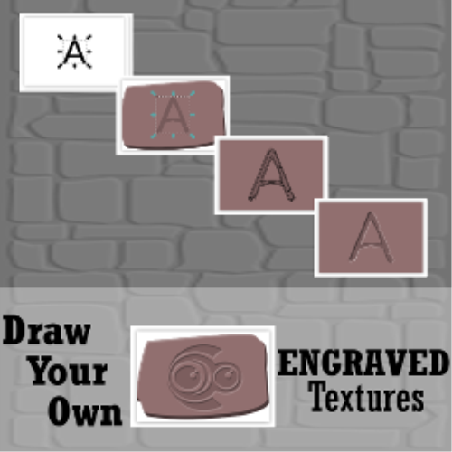 First Additional product image for - Draw Your Own: ENGRAVED TEXTURES