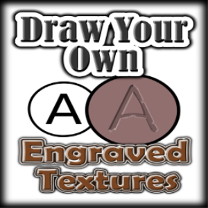 Draw Your Own: ENGRAVED TEXTURES | eBooks | Other