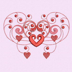 Laura's Burning Hearts Collection JEF | Crafting | Embroidery