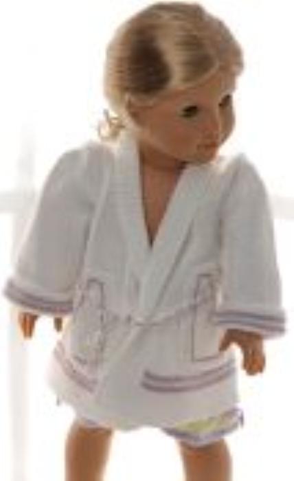 First Additional product image for - DollKnittingPatterns 0156D SOPHIA - Nachthemd, Morgenmantel, Slipper und Babydoll-(Deutsch)