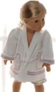 dollknittingpatterns 0156d sophia - chemise de nuit, robe de chambre, chaussons et nuisette-(francais)