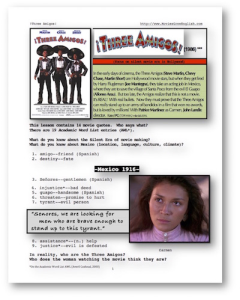 THREE AMIGOS, Whole-Movie English (ESL) Lesson | eBooks | Education