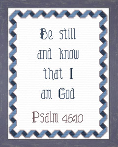 Be Still And Know | Crafting | Cross-Stitch | Religious