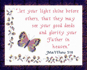 Light Shine | Crafting | Cross-Stitch | Religious