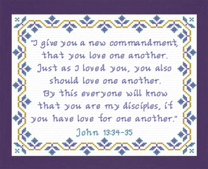 New Commandment | Crafting | Cross-Stitch | Religious