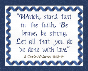 Watch Stand Fast | Crafting | Cross-Stitch | Religious