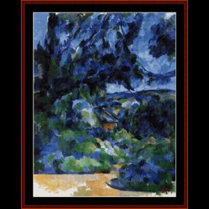 Blue Landscape - Cezanne cross stitch pattern by Cross Stitch Collectibles | Crafting | Cross-Stitch | Other