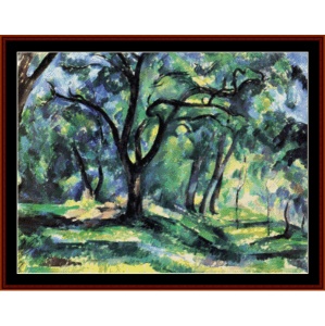 Forest - Cezanne cross stitch pattern by Cross Stitch Collectibles | Crafting | Cross-Stitch | Other