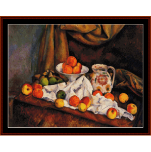 Still Life with Peaches - Cezanne cross stitch pattern by Cross Stitch Collectibles | Crafting | Cross-Stitch | Wall Hangings