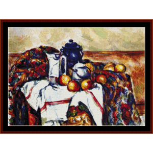 Still Life with Blue Pot - Cezanne cross stitch pattern by Cross Stitch Collectibles | Crafting | Cross-Stitch | Wall Hangings