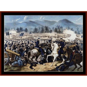 Battle of Gettysburg - American History cross stitch pattern by Cross Stitch Collectibles | Crafting | Cross-Stitch | Wall Hangings