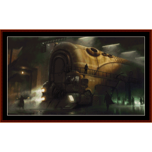 Steampunk Train - Fantasy cross stitch pattern by Cross Stitch Collectibles | Crafting | Cross-Stitch | Wall Hangings