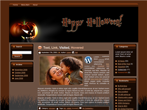 Halloween Pumpkin WP Theme | Other Files | Patterns and Templates