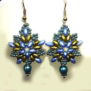 soutache earrings pattern