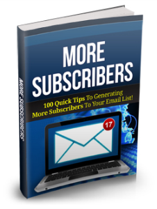 More Subscribers | eBooks | Business and Money