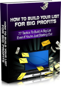 How-To-Build-Your-List-For-Big-Profits | eBooks | Business and Money