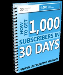 1k subcribers 30 days mrr