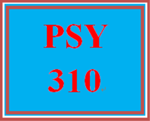 PSY 310 Week 3 Personal Goal Paper | eBooks | Education