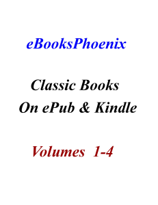 eBooksPhoenix Classic Books On ePub and Kindle  Vol 1-4 | eBooks | Literary Collections